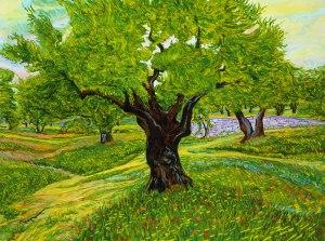 oil-painting - tree