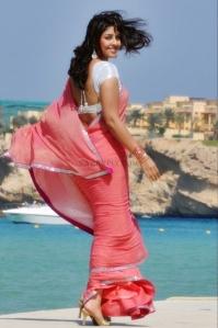 Richa-gangopadhyay-in pink saree