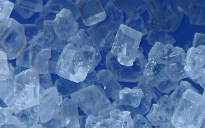 Sugar Crystals In a Blue Light