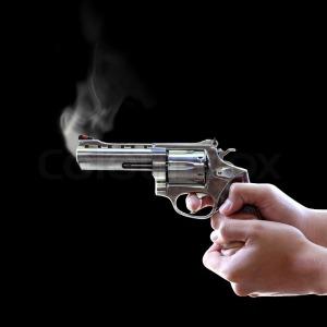 gun is smoking