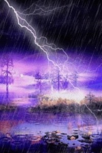 thunder-raining