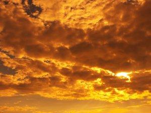 gold in sky
