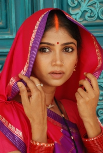 Woman with sindoor