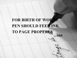 BIRTH OF WORDS