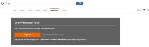 Bing Webmaster Login