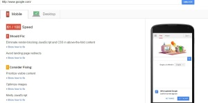 PageSpeed Insights in Mobile