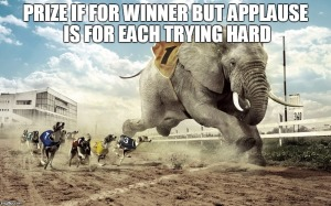 elephant racing with dogs - quote about race