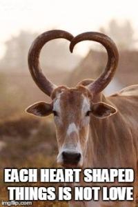 Heart shaped horn