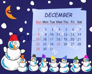 NEW YEAR POEM calendar-for-the-month-of-december