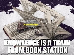 train coming out from book - daily quote