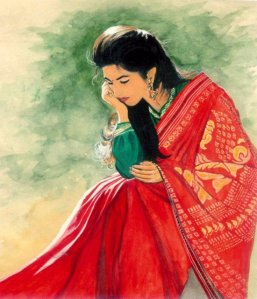 indian-lady-in-red-saree