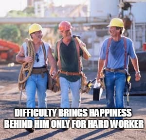 hard working people - smiling man after hardwork
