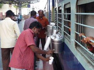 Indian rail tea chai man
